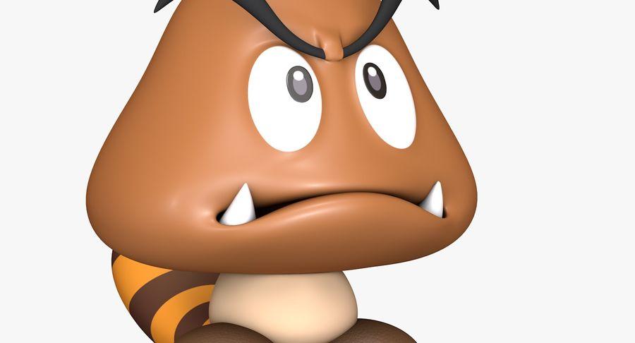 Cola Goomba Super Mario Activos royalty-free modelo 3d - Preview no. 9