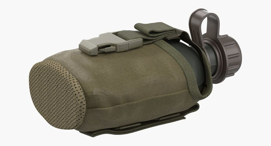 Outdoor Water Canteen Plastic Military 3D Model royalty-free 3d model - Preview no. 6