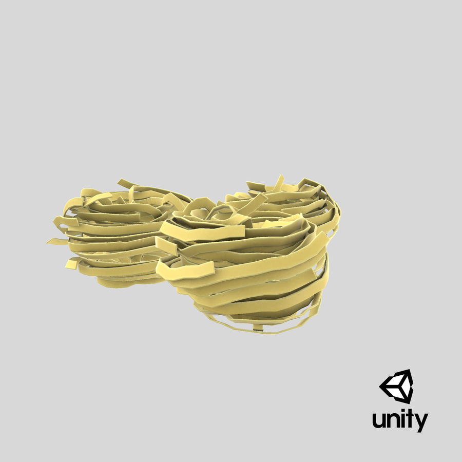 Raw Pasta Nest royalty-free 3d model - Preview no. 20