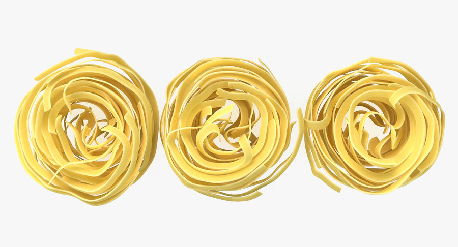 Raw Pasta Nest royalty-free 3d model - Preview no. 7