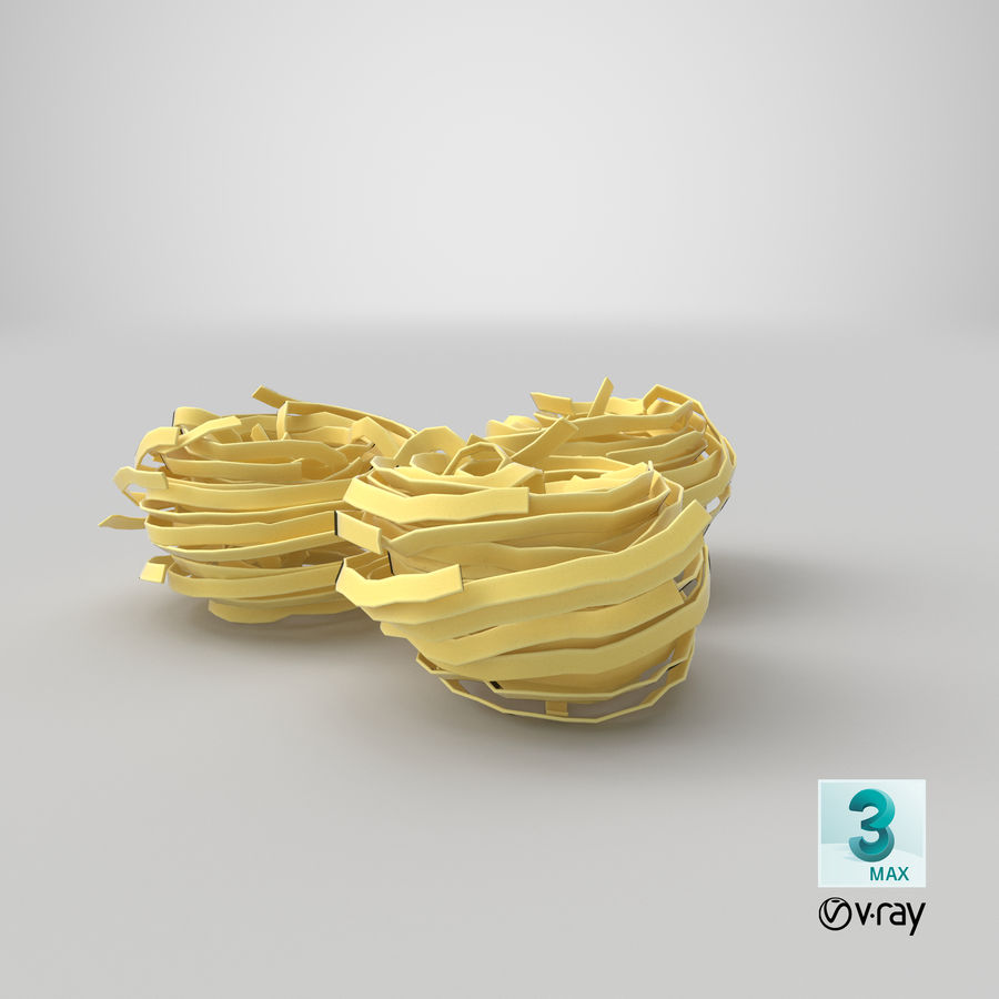 Raw Pasta Nest royalty-free 3d model - Preview no. 24