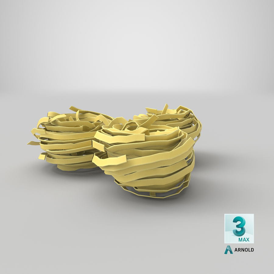 Raw Pasta Nest royalty-free 3d model - Preview no. 22