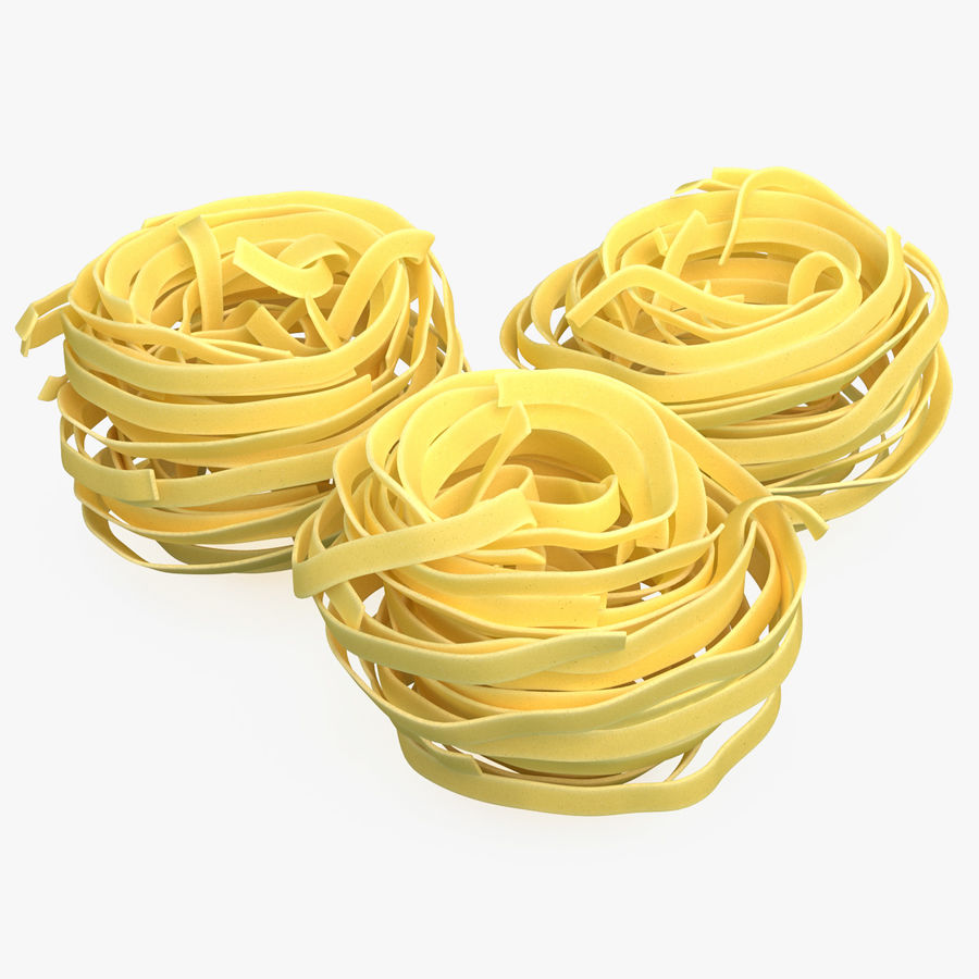 Raw Pasta Nest royalty-free 3d model - Preview no. 1