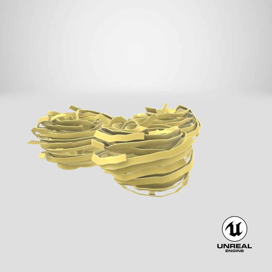 Raw Pasta Nest royalty-free 3d model - Preview no. 21