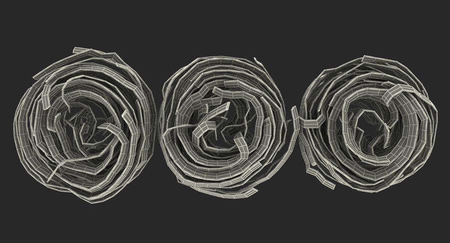 Raw Pasta Nest royalty-free 3d model - Preview no. 17