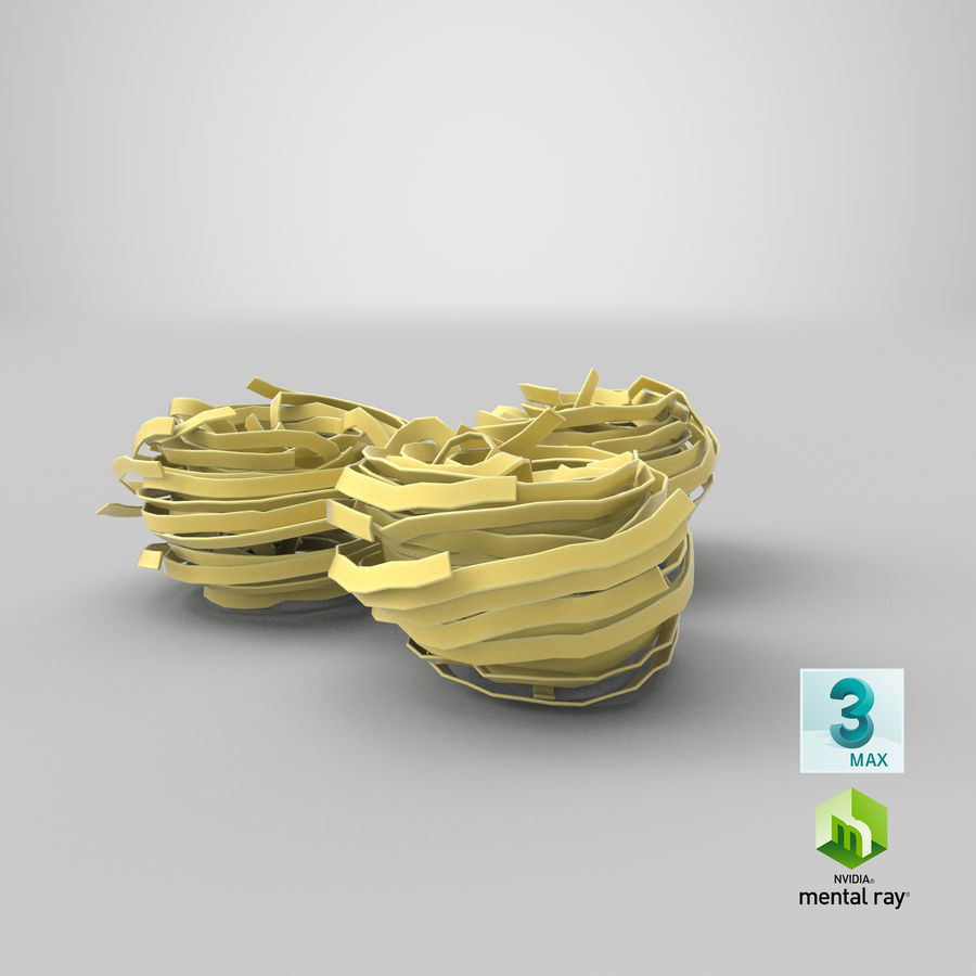 Raw Pasta Nest royalty-free 3d model - Preview no. 23