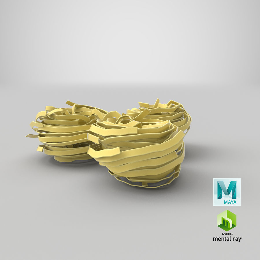 Raw Pasta Nest royalty-free 3d model - Preview no. 26