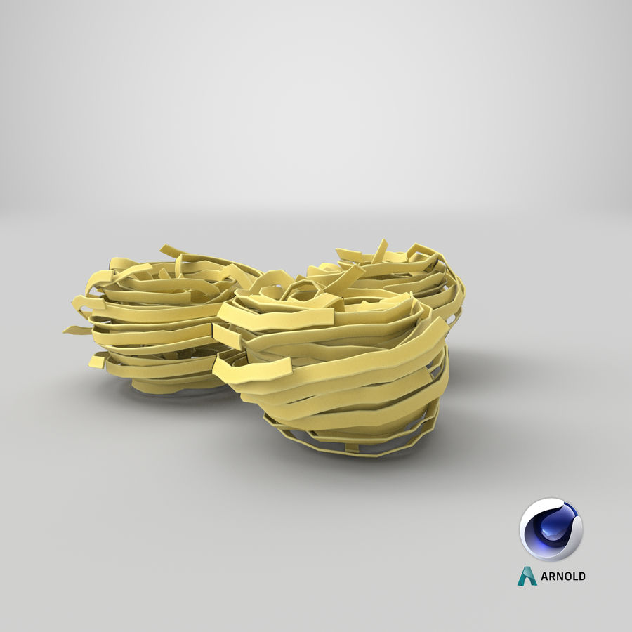 Raw Pasta Nest royalty-free 3d model - Preview no. 19