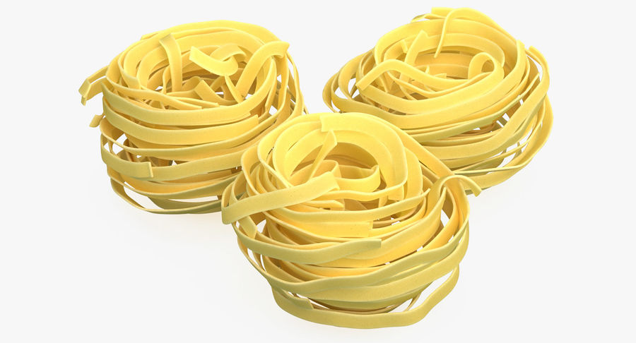 Raw Pasta Nest royalty-free 3d model - Preview no. 2