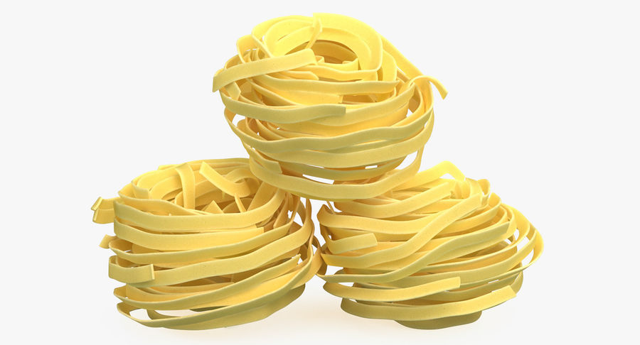 Raw Pasta Nest royalty-free 3d model - Preview no. 6