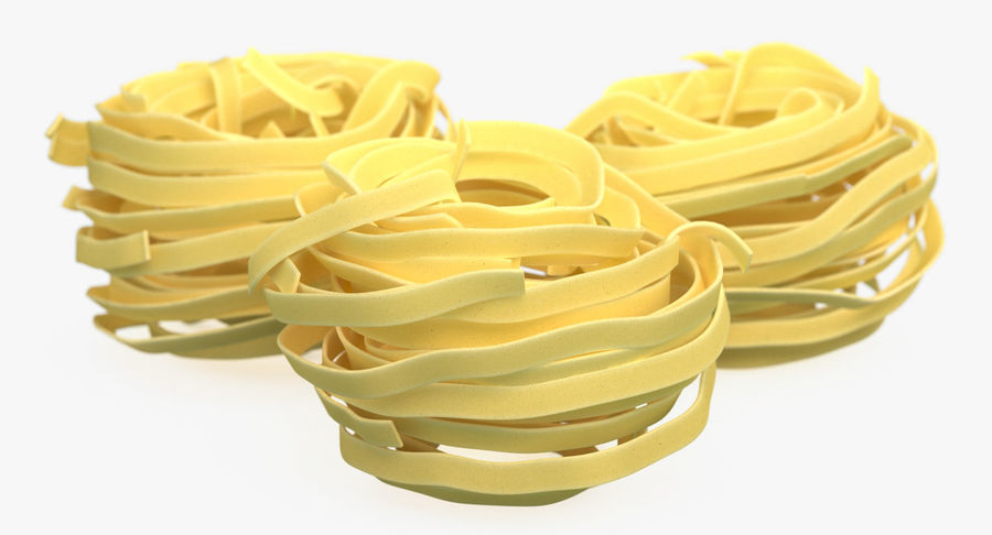 Raw Pasta Nest royalty-free 3d model - Preview no. 4