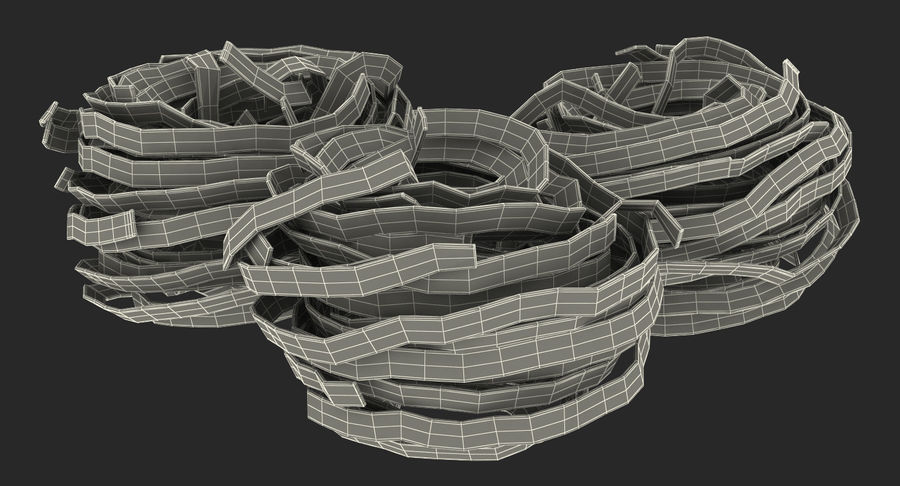 Raw Pasta Nest royalty-free 3d model - Preview no. 16
