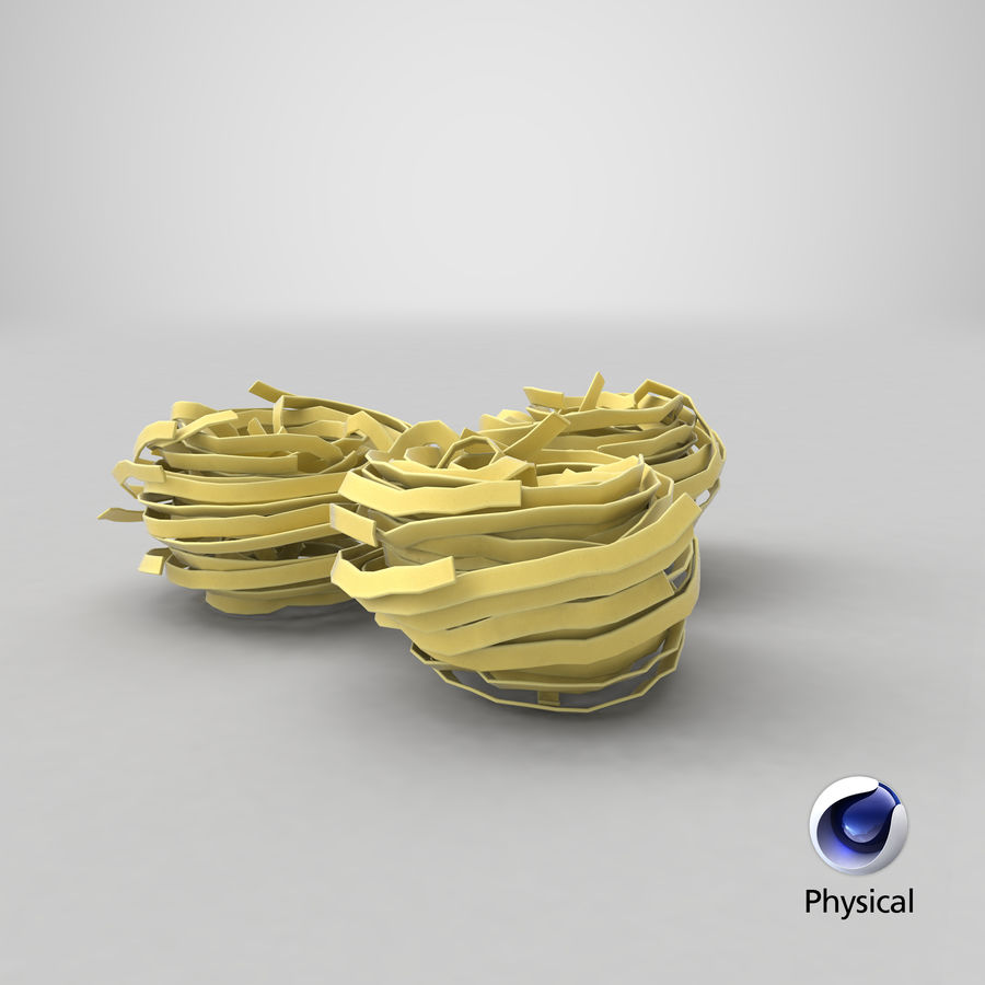 Raw Pasta Nest royalty-free 3d model - Preview no. 18