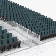Tribunes or Bleachers 3d model