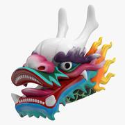 Chińska głowa smoka 3d model