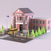 Schule 01 3d model