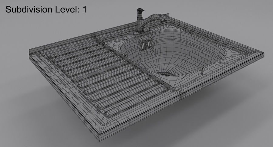 Évier et robinet royalty-free 3d model - Preview no. 9