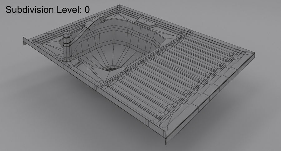 Évier et robinet royalty-free 3d model - Preview no. 12