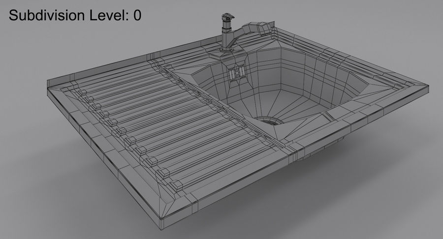 Évier et robinet royalty-free 3d model - Preview no. 8