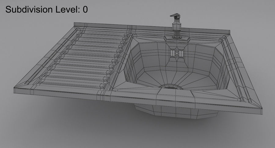 Évier et robinet royalty-free 3d model - Preview no. 4