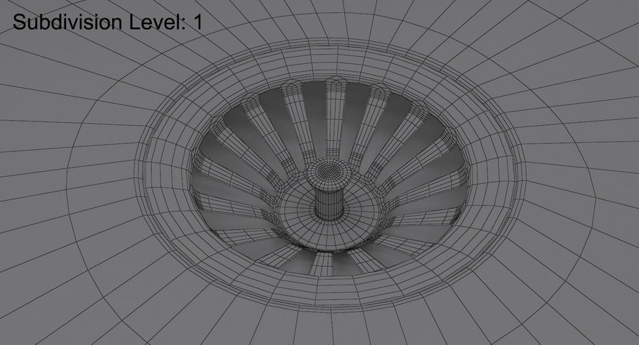 Évier et robinet royalty-free 3d model - Preview no. 25