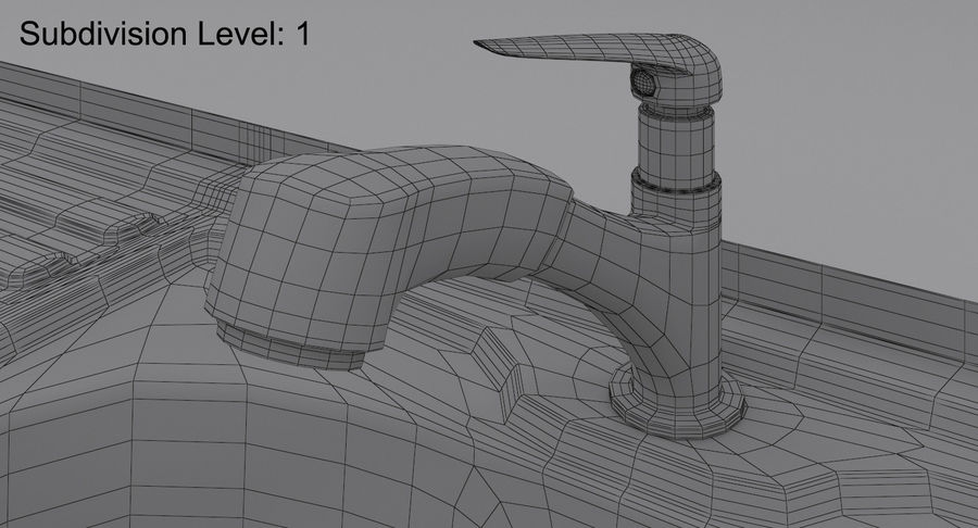Évier et robinet royalty-free 3d model - Preview no. 21