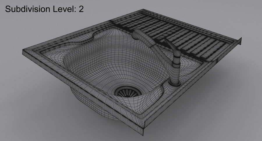 Évier et robinet royalty-free 3d model - Preview no. 18