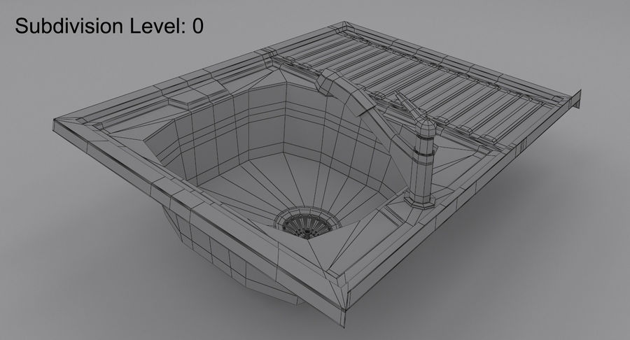 Évier et robinet royalty-free 3d model - Preview no. 16