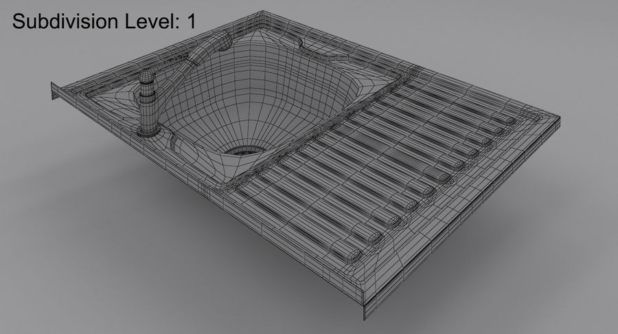 Évier et robinet royalty-free 3d model - Preview no. 13