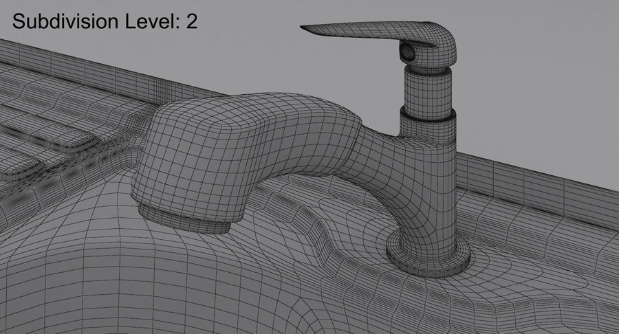 Évier et robinet royalty-free 3d model - Preview no. 22