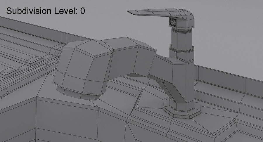 Évier et robinet royalty-free 3d model - Preview no. 20