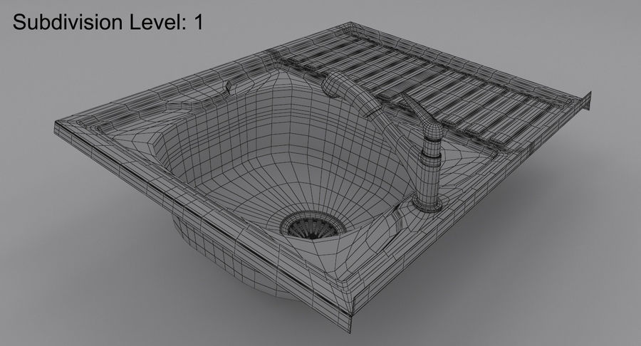 Évier et robinet royalty-free 3d model - Preview no. 17