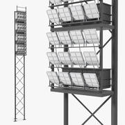 Stadium Lighting Pole 3d model