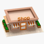 Cartoon Lowpoly Shop 3d model