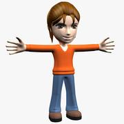 만화 여자 캐릭터 3d model