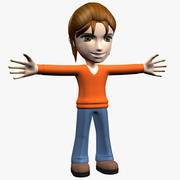 Cartoon Woman Character 3d model