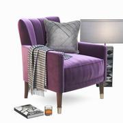 Linley Cadogan Club chair 3d model