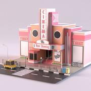 Cinema 01 3d model