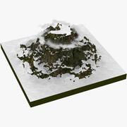 눈 산 3d model