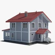 Grey Cottage 3d model