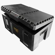 军事科幻条板箱 3d model