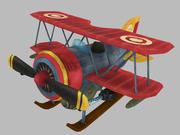 程式化的双翼飞机 3d model