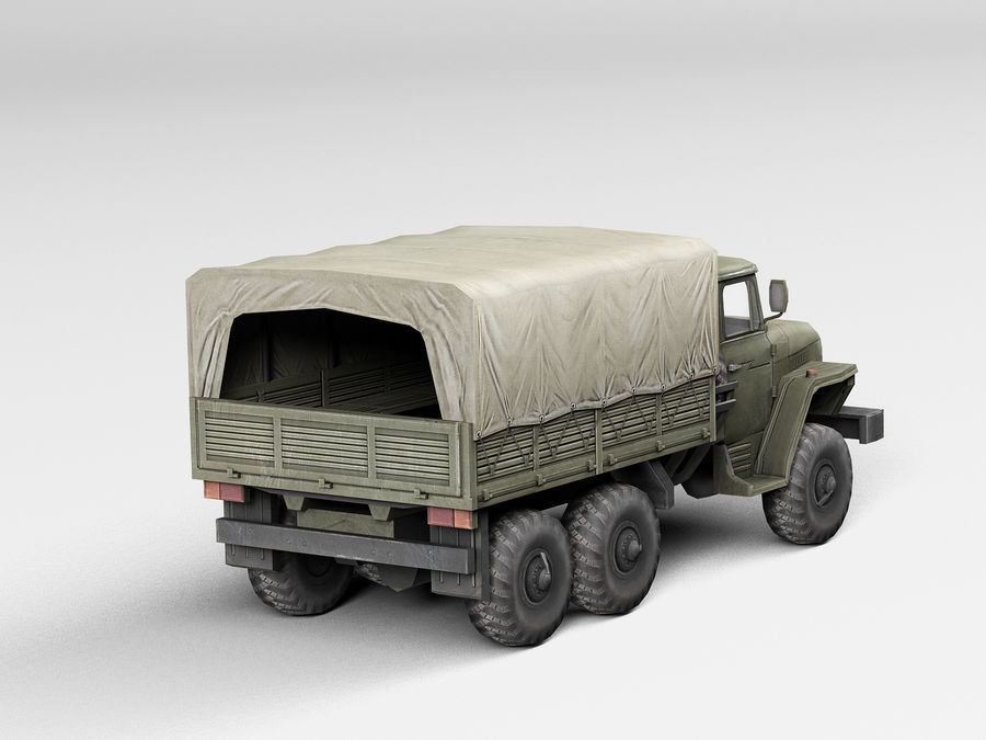 Military vehicle Ural royalty-free 3d model - Preview no. 4