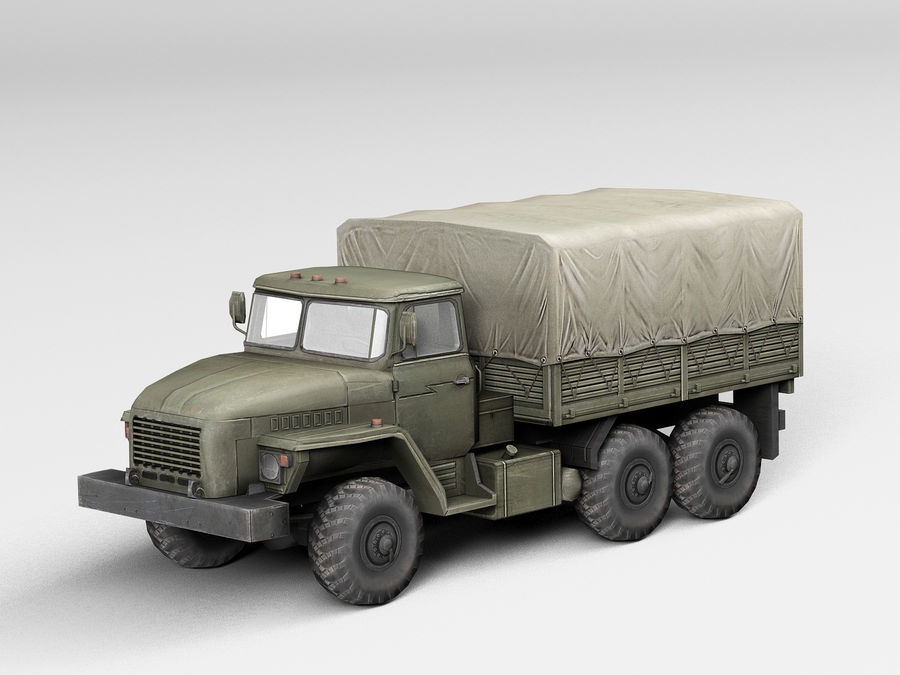 Military vehicle Ural royalty-free 3d model - Preview no. 1