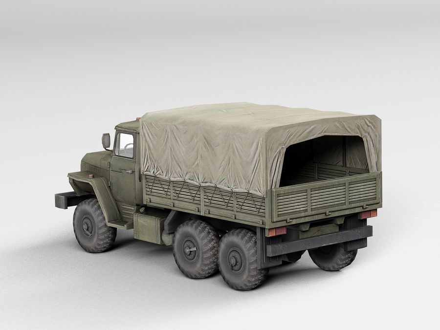 Military vehicle Ural royalty-free 3d model - Preview no. 3