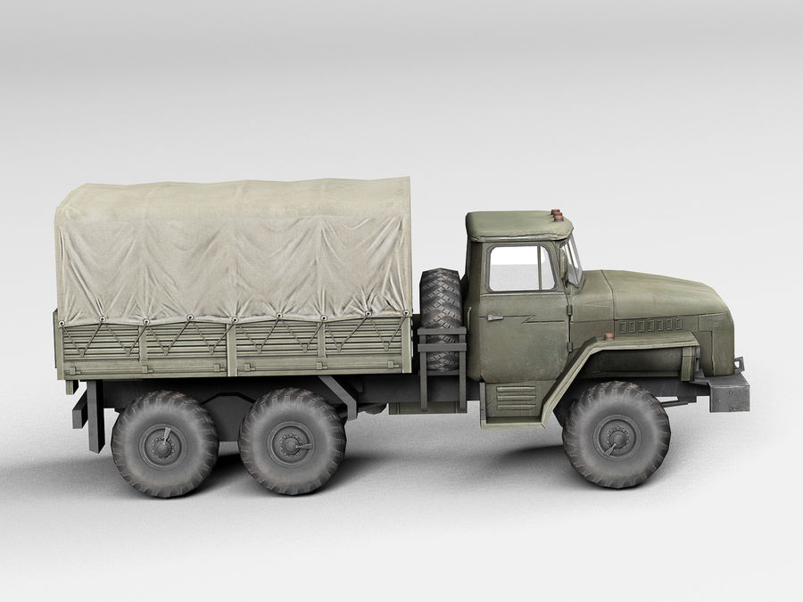 Military vehicle Ural royalty-free 3d model - Preview no. 5