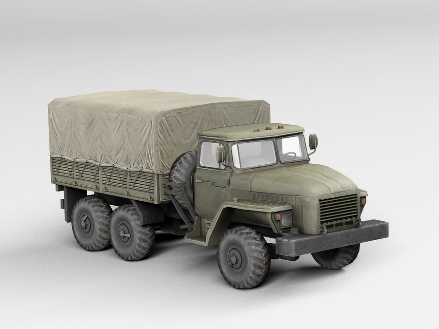 Military vehicle Ural royalty-free 3d model - Preview no. 6