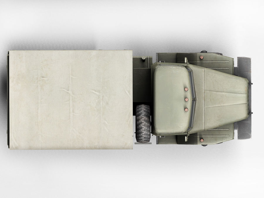 Military vehicle Ural royalty-free 3d model - Preview no. 7
