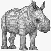 Rhino Baby (Low Poly) 3d model