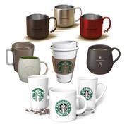 Set de bebidas Starbucks modelo 3d